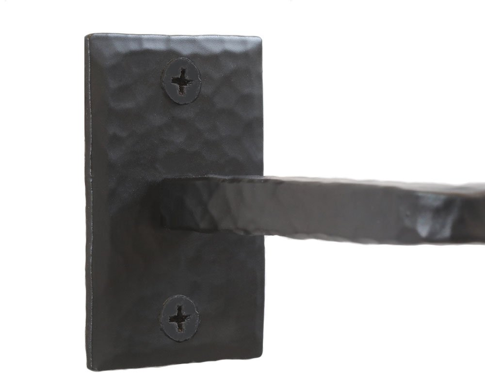 Farmhouse Rustic D/écor Sturdy Wall Mount Toilet Paper Holder #MD11002-B Strong Black Iron Bathroom Accessories Handmade Wrought Iron Toilet Paper Holder Vintage Western Easy to Install