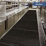"Anti-Fatigue Rubber Floor Mats for Kitchen New Bar Rubber Floor Mats Commercial Heavy Duty floor Mat black 36"" 60"""