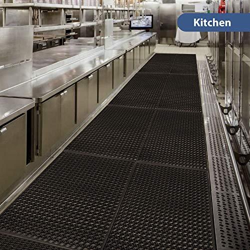 Anti-Fatigue Rubber Floor Mats for Kitchen New Bar Rubber Floor Mats  Commercial Heavy Duty floor Mat black 36