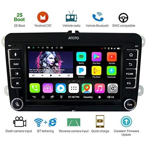chollos oferta descuentos barato Navegación GPS para automóviles Android ATOTO A6 con Bluetooth Dual y Carga rápida para Algunos Volkswagen VW Premium A6YVW710PB Radio Multimedia Indash 1G 16G WiFi BT Internet Tethering