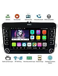 ATOTO A6 Android coche navegación estéreo con Bluetooth dual y 2 A carga   VW específico entretenimiento multimedia radio, WiFi BT Tethering Internet, soporte 256 G SD y más