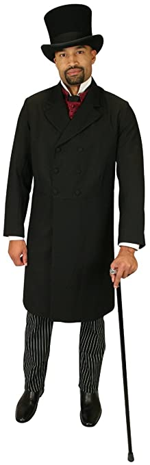 Men's Steampunk Clothing, Costumes, Fashion Double Breasted Frock Coat $169.95 AT vintagedancer.com