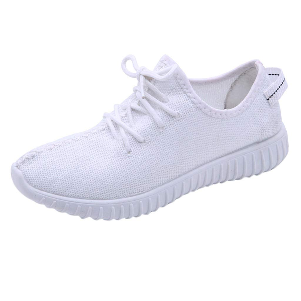 Garish  Women's Mesh Breathable Sneakers, Outdoor Sport Shoes,Non-Slip Student Running,Hiking Walk Shoes White