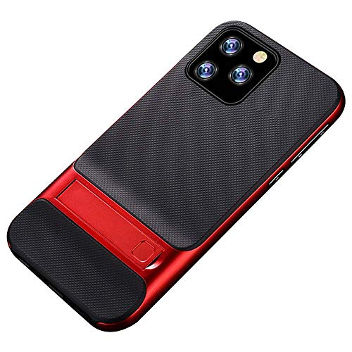 Case Compatible with iPhone 11Pro Max Phone Cover Providing Protection Smart Phone PC+TPU Kickstand Shell (iPhone 11Pro Max, red) (Iphone App To Forward Calls And Texts)