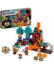 LEGO 21168 Minecraft Het Verwrongen Bos Bouwset met Poppetjes van Huntress, Piglin en Hoglin voor Kinderen vanaf 8 Jaar