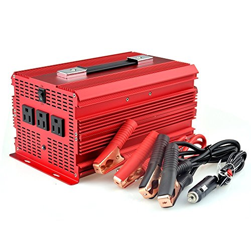 BESTEK 2000W Power Inverter 3 AC Outlets 12V DC to 110V AC Car Inverter by BESTEK