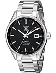 TAG Heuer Mens WAR2010.BA0723 Carrera Analog Display Swiss Automatic Silver Watch