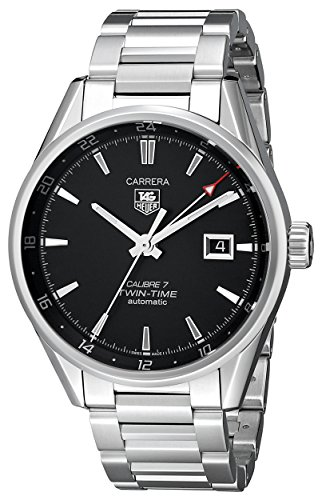 TAG Heuer Men's WAR2010.BA0723 Carrera Analog Display Swiss Automatic Silver Watch ()
