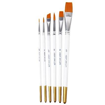6pcs Pinceaux De Peinture Pinceaux Pour Peinture Acrylique Aquarelle