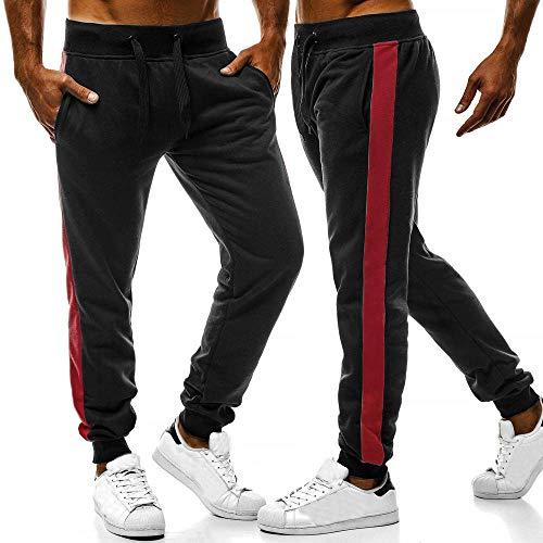 Slim Nero Pantalone Lungo 2019036 Ginnastica Jogging Casual Cargo Pantaloni Uomo Chino Sport Fit w00xR7