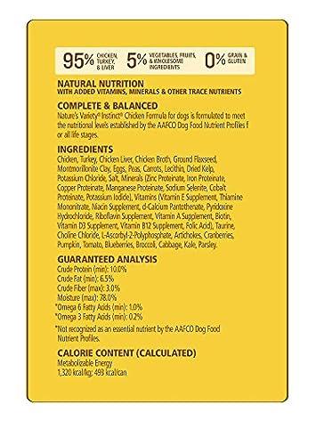 Nature S Variety Instinct Original Grain Free Recipe Natural Wet Canned Dog Food Chicken