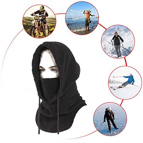 Hi-crazystore Ski Mask Winter Neck Protect Keep Warm Cycling Motorcycle Mask (White)