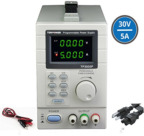 Tekpower TP3005P Programmable Linear Type Variable Regulated DC Power Supply, 0-30V at - Dc Supplies Variable Power