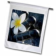 Danita Delimont - Orchids - Maui, Hawaii, White dendrobium orchid - US12 JMR0000 - Julien McRoberts - 12 x 18 inch Garden Flag (fl_89804_1)