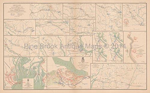 (Savannah Georgia Canton Mississippi Civil War Antique Map Authentic Decor History Anniversary Housew )