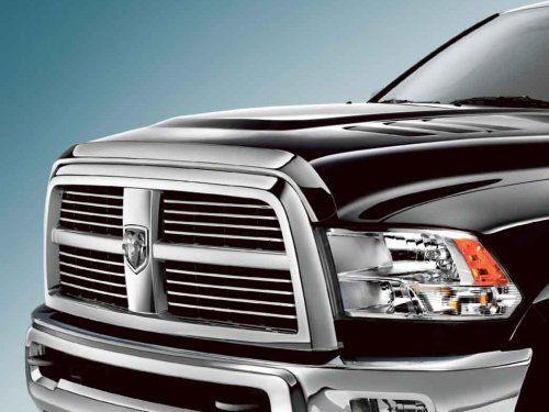 Hood Guard Bug Deflector (10-16 Dodge RAM Truck 2500 3500 HD Front Air Deflector Triple Chrome Plated Hood Guard Bug Deflector)