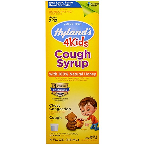 Hyland's Cough Syrup with 100% Natural Honey 4 Kids 4 oz ( Pack of 12)