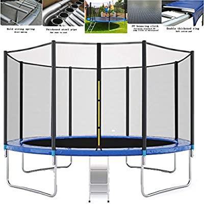 12 FT Trampoline for Kids, Kids Trampoline with Net Better Bounce, Powerful Loading Capacity, Maximum Safety, Solid Steel Structure (As shown): Home Improvement