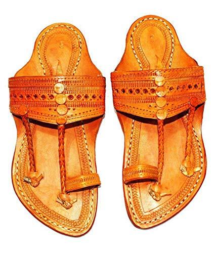 Shreyas Foot Wear Men's Yellow Leather