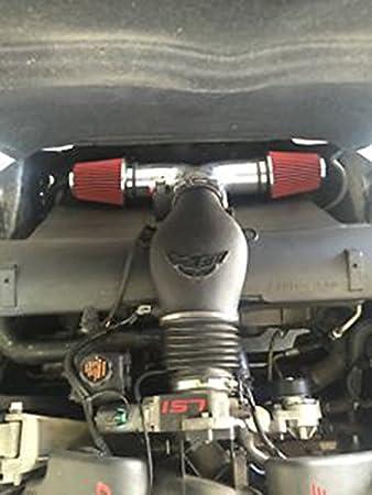 Green Dual 1997-2000 Chevy Corvette C5 5.7L V8 Twin Air Intake Kit Filter