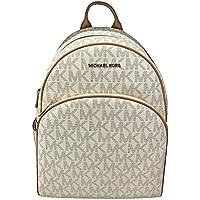 Michael Kors Abbey Jet Set Large Leather Backpack Vanilla 0104