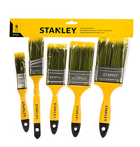 STANLEY Comfort Grip Paint Brush (5 Piece, Flat) (Grip Paint Brush)