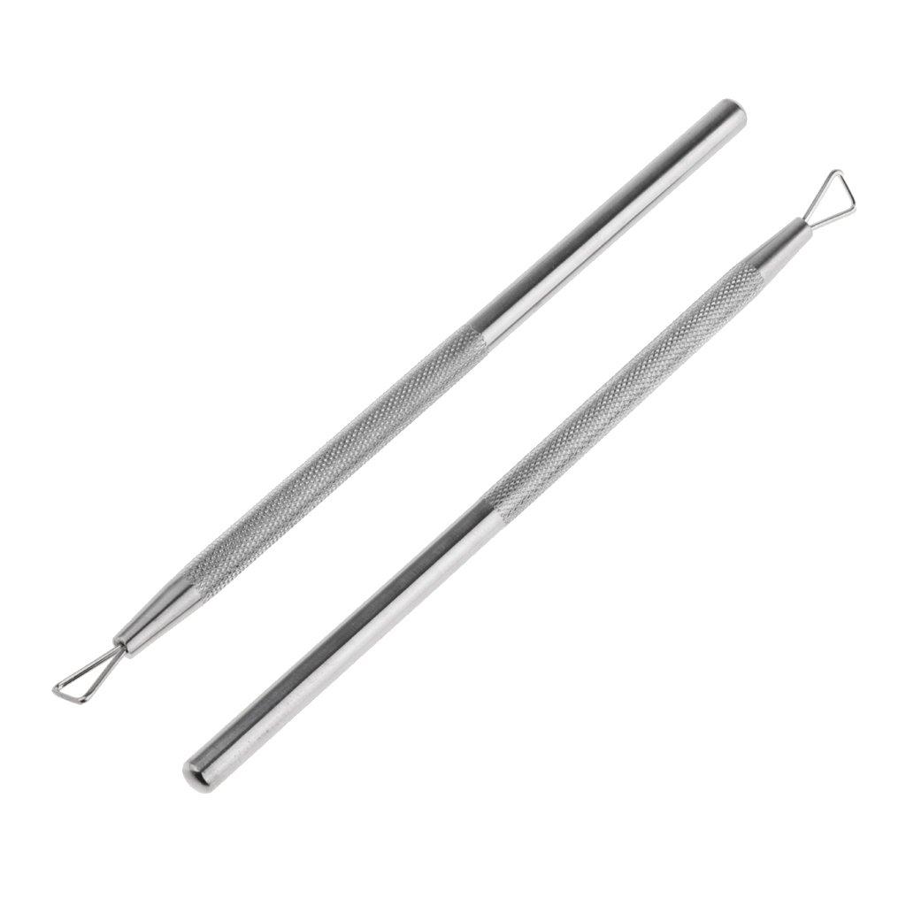 Homyl Durable 2x Nail Polish Remover Triangle UV Gel Scraper for Fingernails and Toenails
