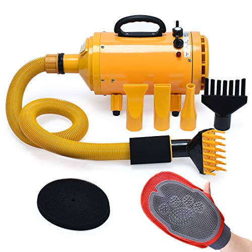 Free Paws Pet Dryer Dog Cat Hair Dryer Blower Professional, Grooming Professional 4HP Dog Dryer with Heating, for Large Small Pets Dogs Cats, Variable Speed