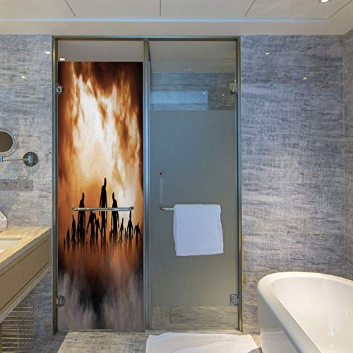 Lavender Block Mist - YOLIYANA Control Heat and Anti UV Window Cling,Halloween Decorations,Reduce Heat, Glare and Block Out Harmful UV Rays,Zombies Dead Men Body in The Doom Mist,24''x78''