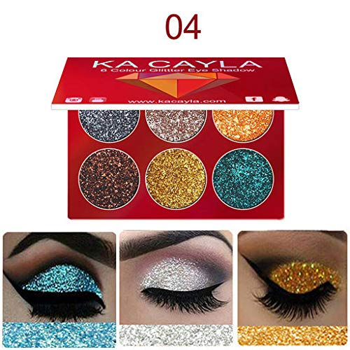 Christmas Best Gift!!!!Kacowpper KA Cayla Makeup Eye Shadow Eyeshadow Palette Cosmetic Set Eye Shadow 6 Colors (Best Nars Eyeshadow Duo For Green Eyes)