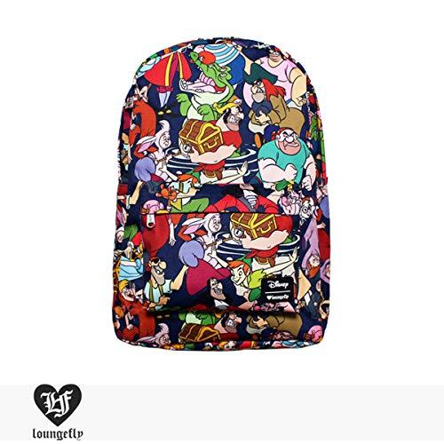 Disney Peter Pan Captain Hook Wendy Character School Backpack by Loungefly, Multi, Medium