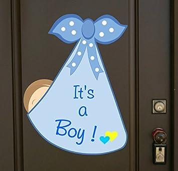 amazon com it s a boy baby bundle door hanger welcome baby birth