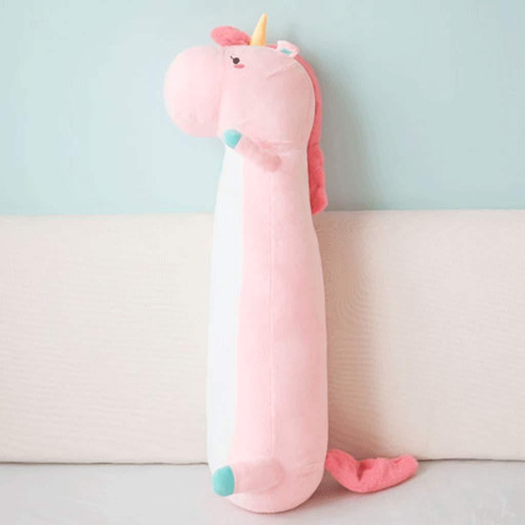 Hippocampus Long Leg Pillow Leg Lazy Boyfriend Boyfriend Maternity Pillow with Bed Detachable Cute Pillow (Color : Pink Unicorn, Size : XL-1m2)