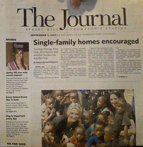 Distinct-family Homes Encouraged: Zoning Change May Help Developers Put Smaller Homes on Smaller Lots / Maureen Kirkpatrick, Spring Hill Teen, Wins County Parade / Incivility Comes to Neighborhood Level / Flag Is Important Every Day (The Journal - Spring