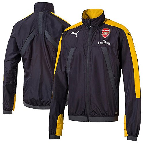 Arsenal Puma 2016/17 Training Stadium Vent Jacket - Black Yellow - Size M