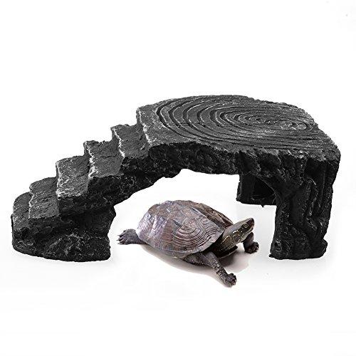[해외]파충류 비바 리얼 숨기기 동굴 거북 개구리 플로팅 플랫폼 사다리 거북이 Basking 플랫폼 모서리 램프 수족관 물고기 탱크 장식품 Awtang에 의해/Reptile Vivarium Hide Cave Turtle Frog Floating Platform Ladder Tortoise Basking Platform Corne...