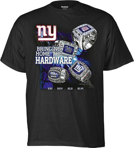 b4b5954ec Reebok New York Giants 4 Time Super Bowl Champions Big   Tall Ring T-Shirt
