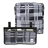 Two Bags Wheelchair Accessories by Astrata - Backpack Storage and Armrest Side Organizer - Lightweight Wheelchair Rollator Walker Bag - Organizers and Storage Travel Items - Handicap Accessories