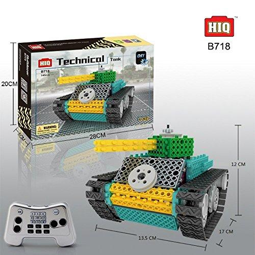 BAA SHOP Remote Control Tank Building kit RC Kids Electric DIY Robot Interlocking Building Blocks Kit for Kids/Toddlers (Electric Building Kit compare prices)