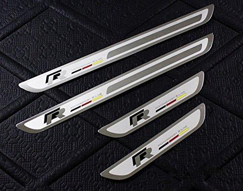 Salusy Sport Door Sill Scuff Plate for Golf MK4 MK6 09-12 Jetta MK6 2011 and Passat B6 CC