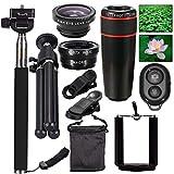 10 in1 Camera Lens Kit ,AnKooK 8x Telescope Lens + Macro Lens +
