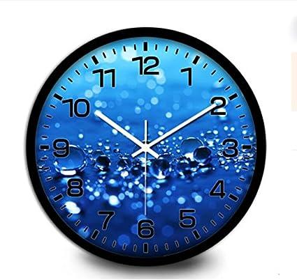 ZHUNSHI Reloj de pared creativas electrónica metal salón moderno reloj de cuarzo relojes grandes,14