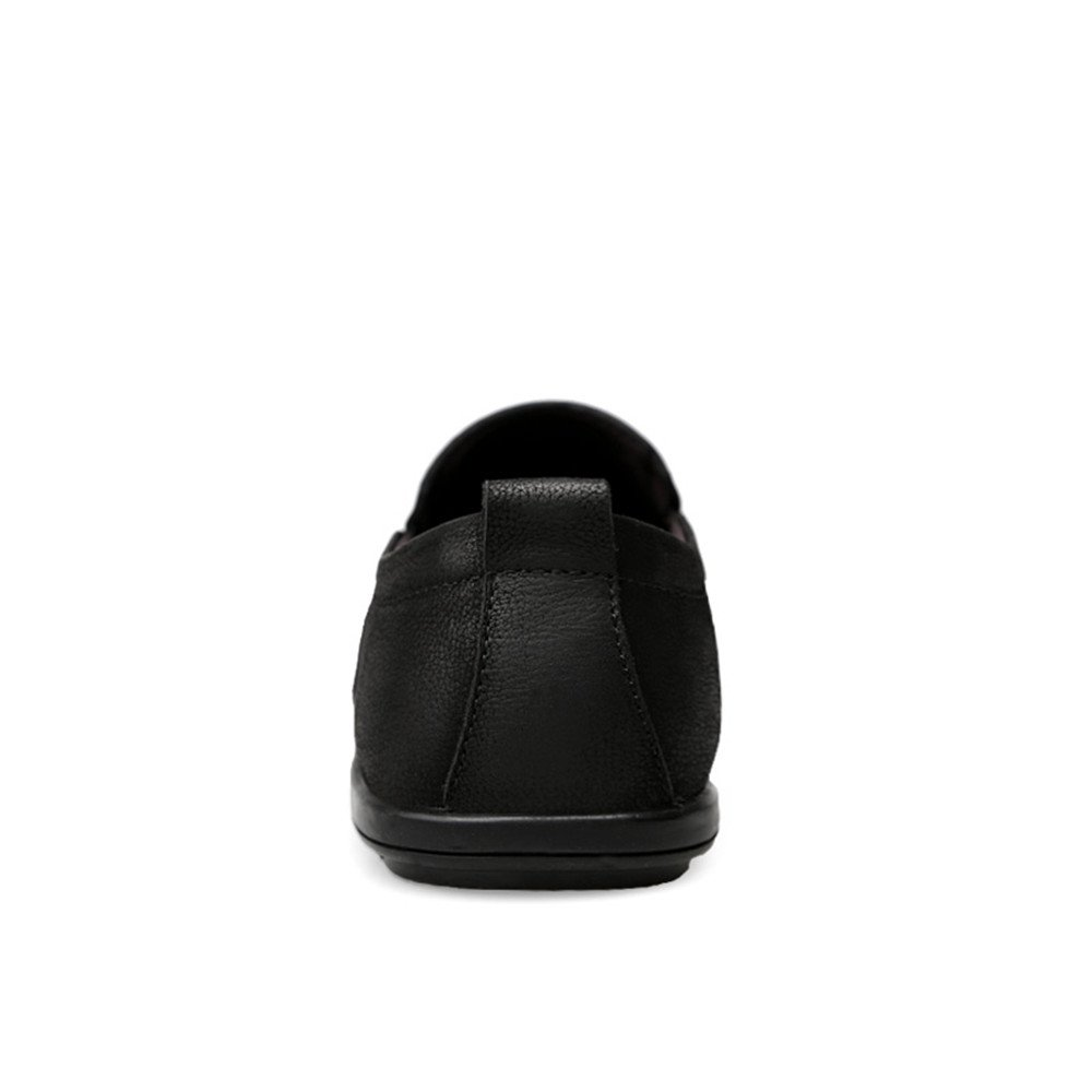 Yajie schuhe, 2018 Herren Mokassins Männer Wave Sole Driving Leder Loafer, Mokassins aus echtem Leder Driving Slip auf Super Light Driving Loafer (Farbe : ROT Wine, Größe : 42 EU) Schwarz 10dcd8