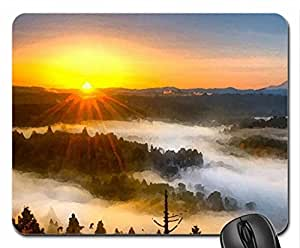 Sunset Mouse Pad, Mousepad (Sunsets Mouse Pad, Watercolor style)