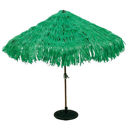 - Tropical Express Raffia Colored Tiki Luau Umbrella Cover, 9-Foot Diameter