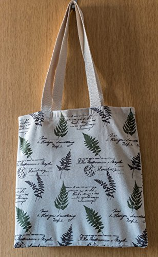Uchyko Fern Print Canvas Book Bag