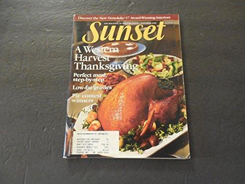 Sunset Magazine Of Western Living Nov 2000 Western Harvest Thanksgiving -