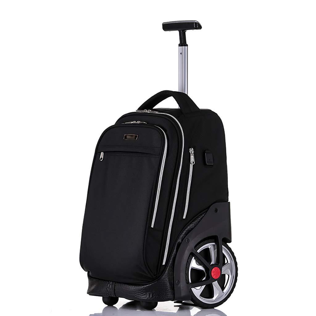 車輪付きトロリーバックパックキャスター付きバックパックナイロンローリングバックパック旅行エグゼクティブモバイルオフィスビジネスハンドキャビン荷物について B07MPXB1DD A