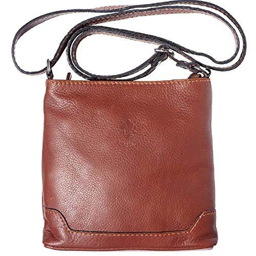LaGaksta Mini Very Soft Leather Crossbody Bag Brown