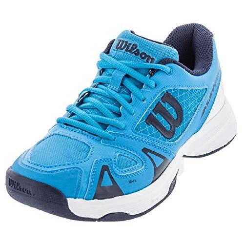 Wilson Kids Unisex Jr Rush Pro 2.5 (Little Kid/Big Kid) Hawaiian Ocean/White/Navy Athletic Shoe (Shoe Tennis Pro Womens)